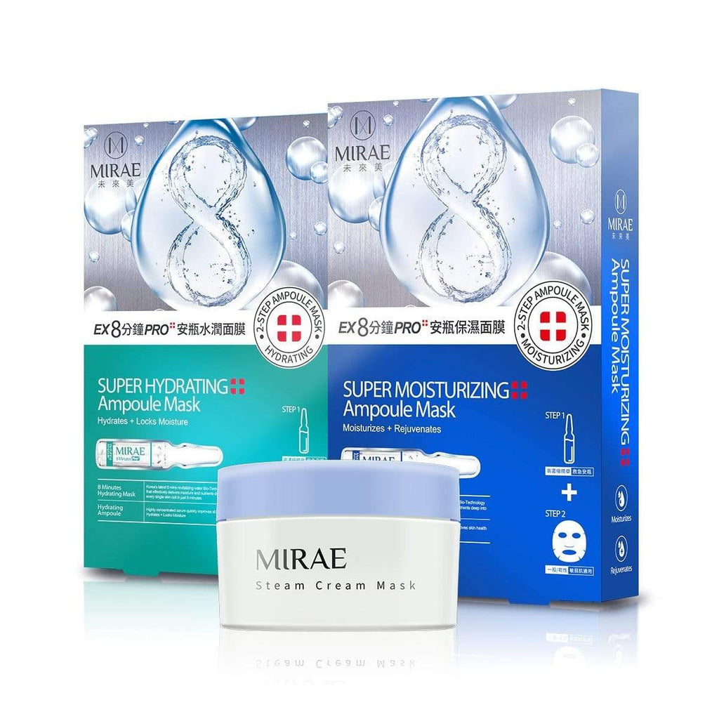 【MIRAE】Super Ampoule Mask (Moisturizing+Hydrating) + Moisturizing Steam Cream