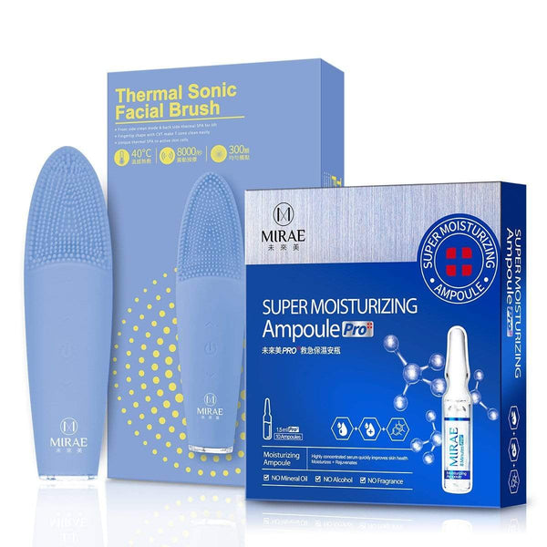【MIRAE】Thermal Sonic Facial Brush+Super Moisturizing Ampoule