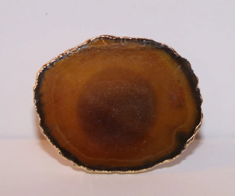 Geode-Style Phone Grip - Large Round Amber