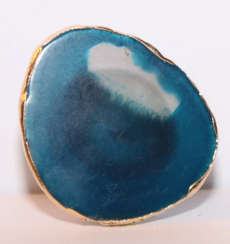 Geode-Style Phone Grip - Small Round Ocean