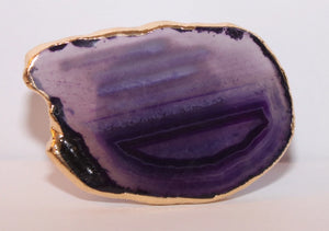 Geode-Style Phone Grip - Medium Oval Purple