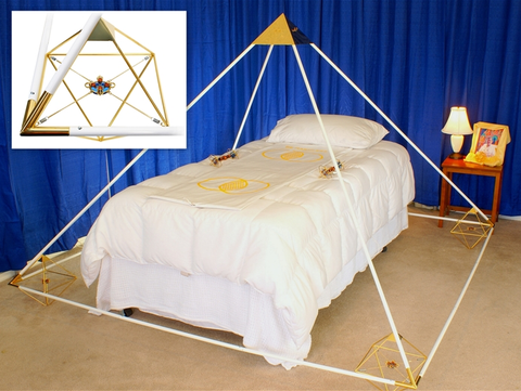 Buddha Maitreya the Christ Ascension Pyramid with Solar Form Octahedrons