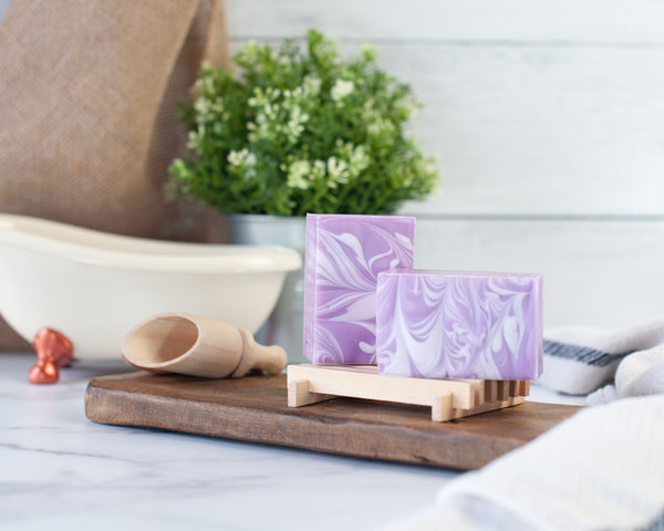 Handcrafted Soap ~ Lavender Swirl Top