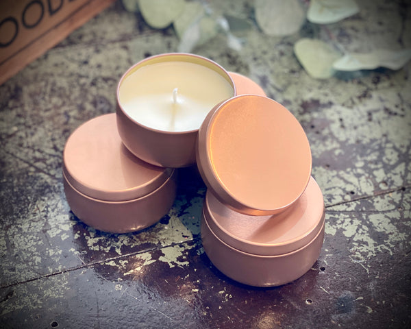 Farmhouse Copper Tin Candles ~ French Market Florals