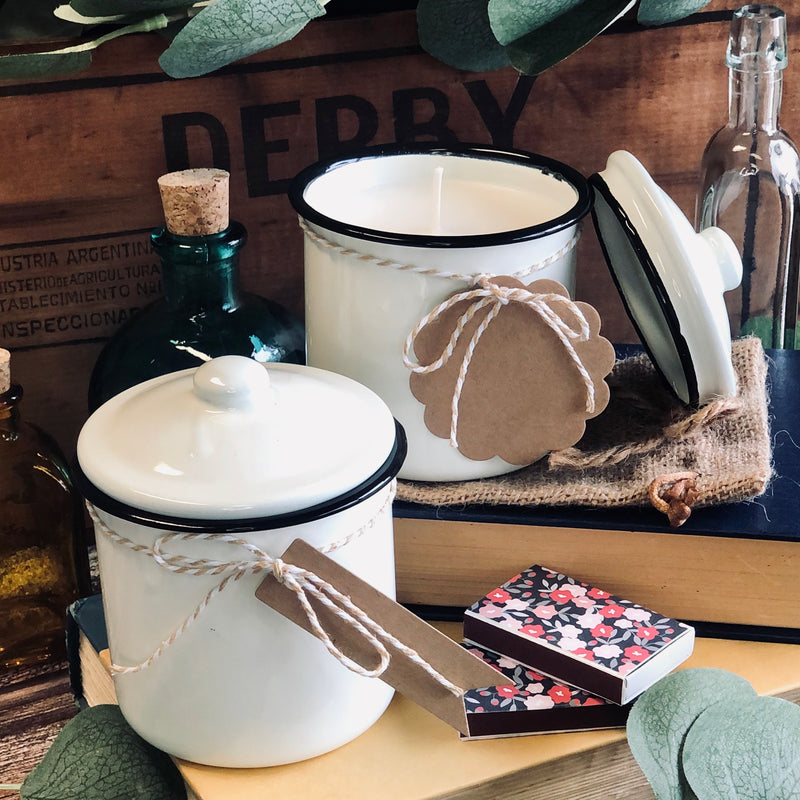 Shop Candle ~ Vintage White Canisters