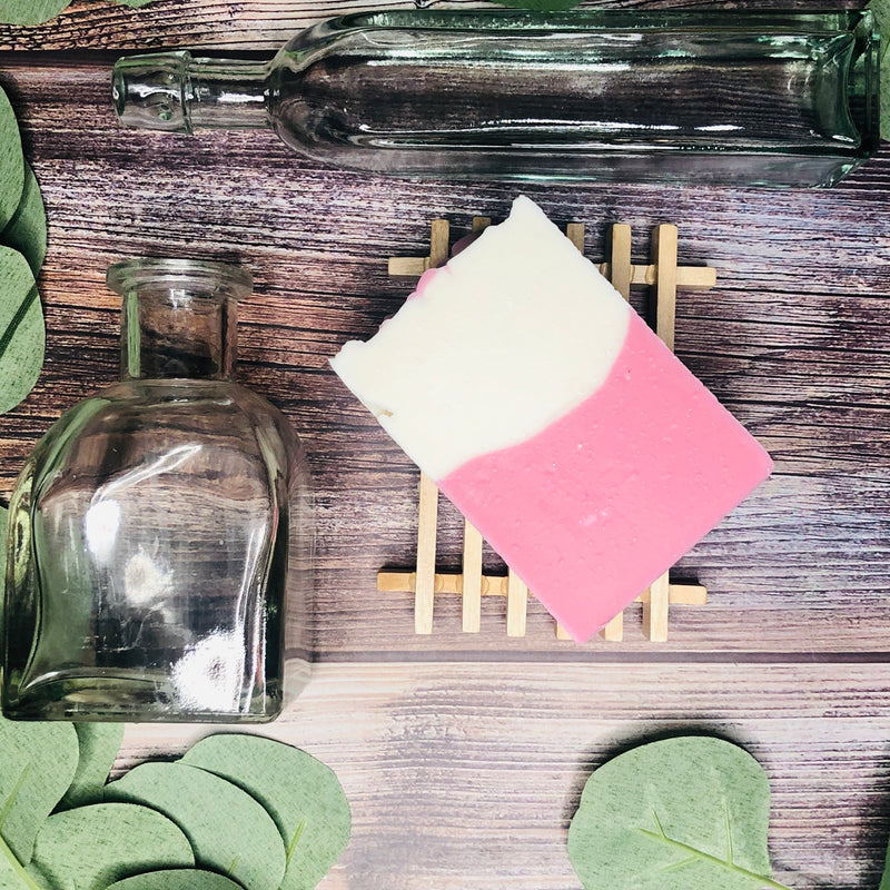 Handcrafted Soap ~ Pink Heart Top