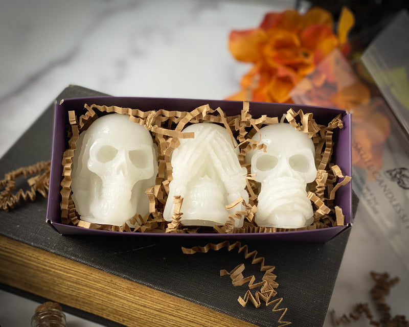 Shop Candles ~ Skull Candle Set