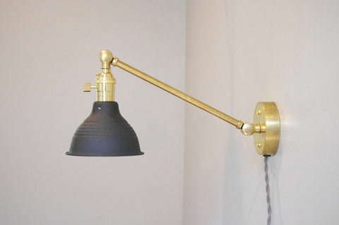 Petite Articulating Brass Lamp
