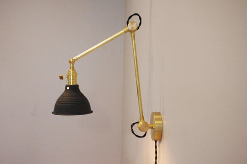 Boom Swivel Lamp With Shop Shade