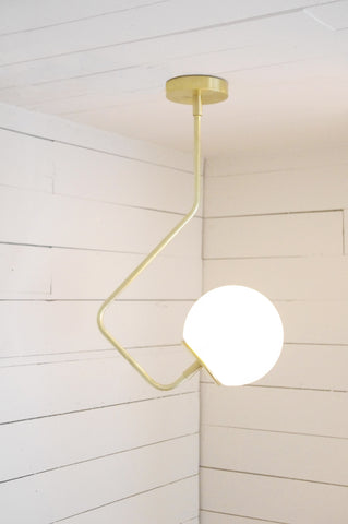 Orb Bent Arm Chandelier