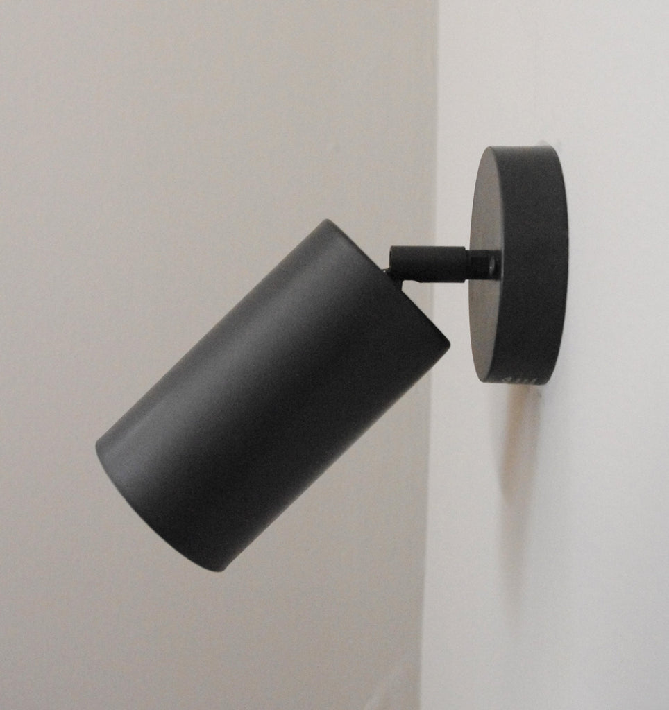 Cylinder Black Wall Lamp
