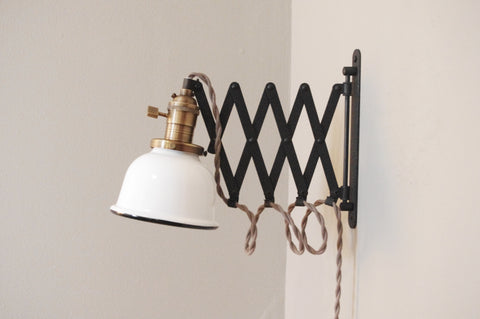 "Union Scissor Lamp - 5"" Shade"