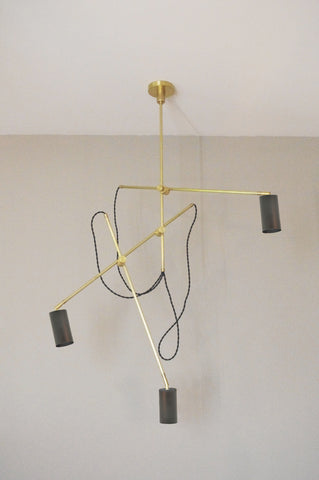 Cove Industrial Triple Arm Chandelier