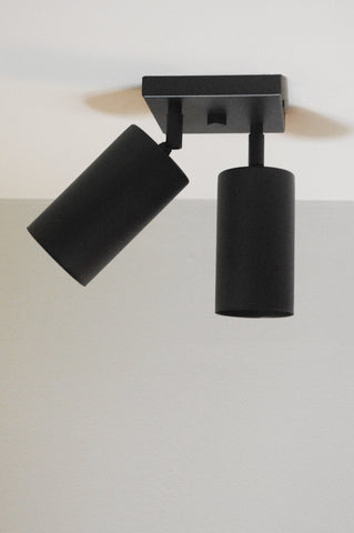 Cylinder Double Spot - Black