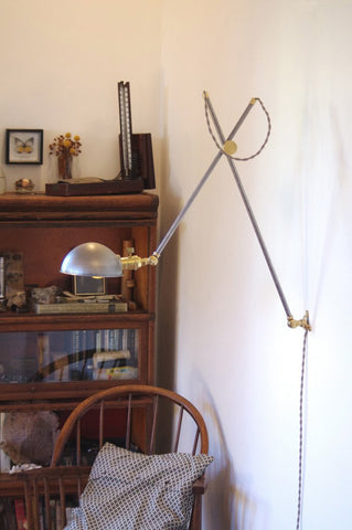 Industrial Lamp XL - Brass & Steel with Anchor Base