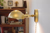 Petite Wall Lamp with Parabolic Shade