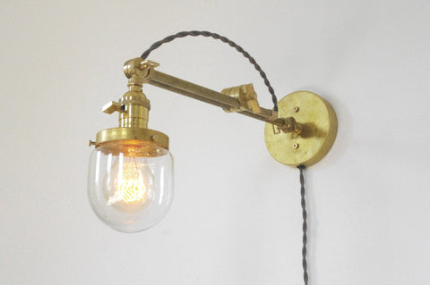 Industrial Task Lamp - Glass Shade