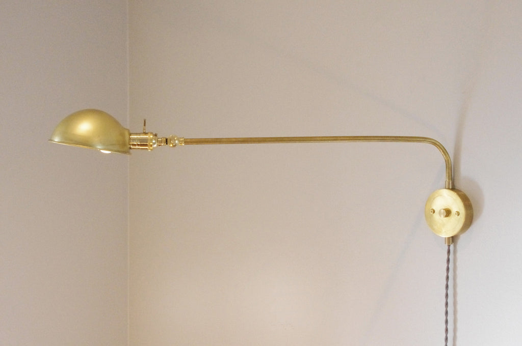 180 Degree Parabolic Brass Swivel Lamp