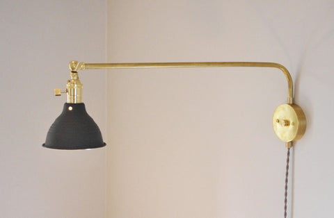 XL 180 Degree Brass Swivel Lamp