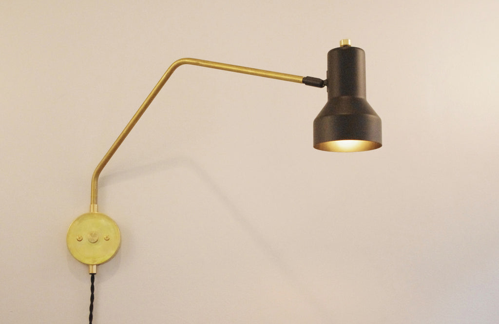 The Arch Brass Step Swivel Lamp