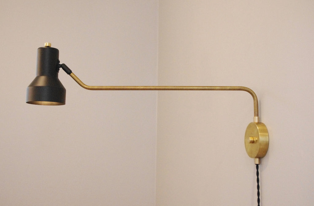 The 180 Brass Step Swivel Lamp