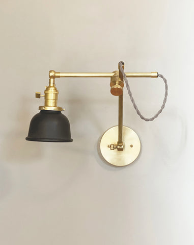 "Industrial Task Lamp - 5"" Shade"