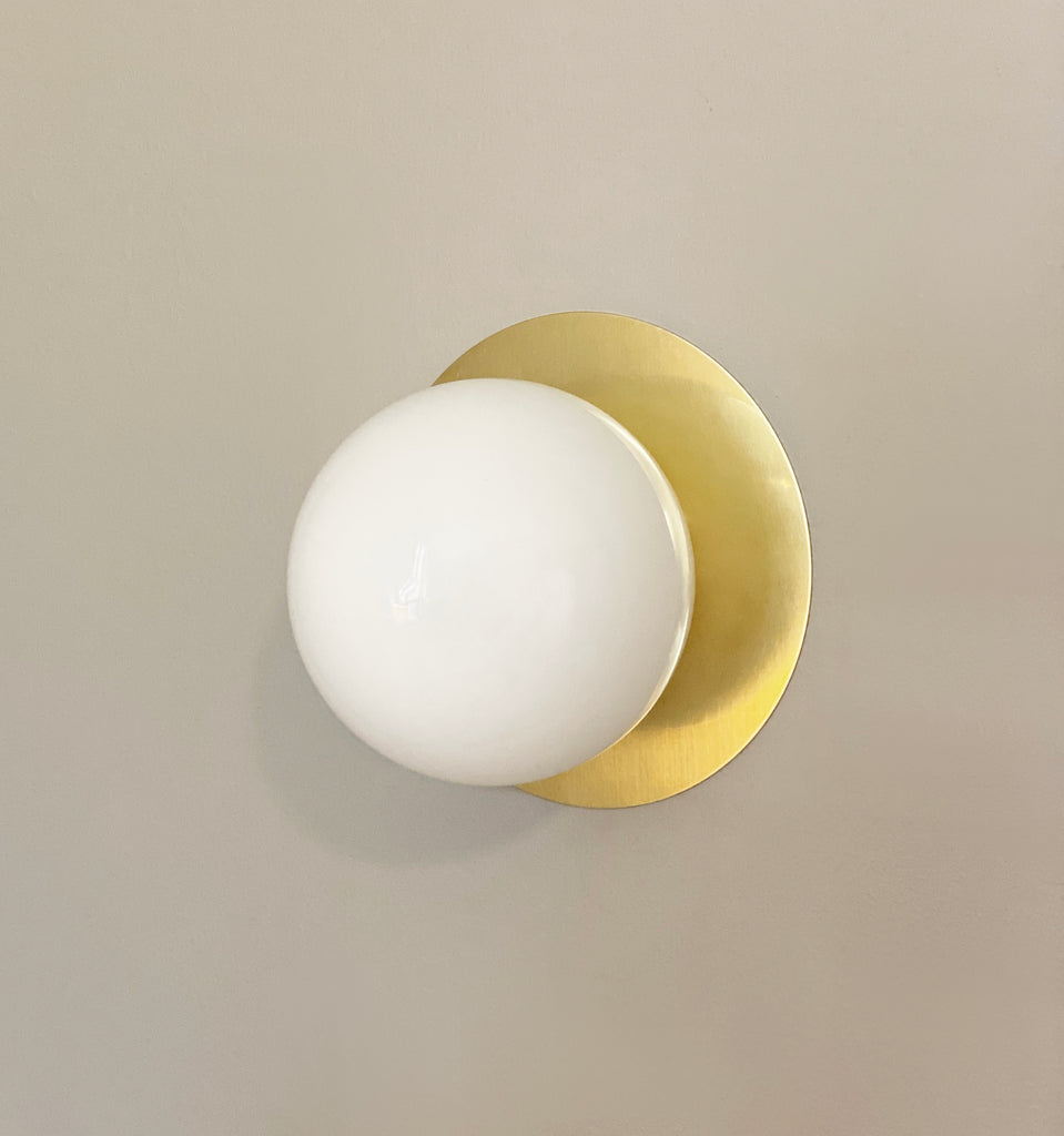 Orb Flush Sconce