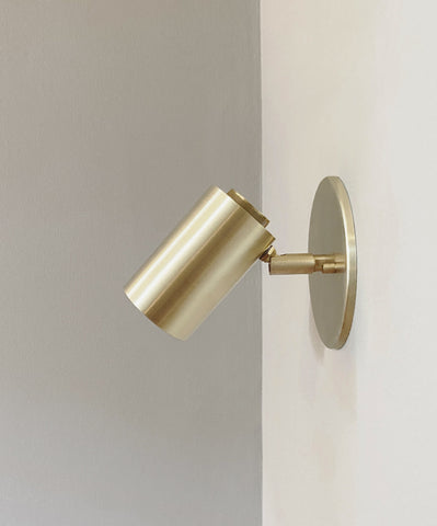 Cylinder Brass Wall Lamp