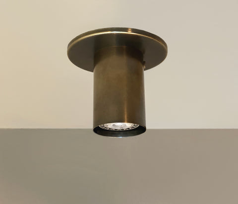 Cylinder Flush Spot - Warm Oxidized Brass