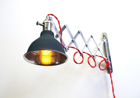 Original Scissor Lamp (Black, Gray, or Red Wire Options)