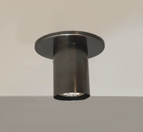 Cylinder Flush Spot - Black Oxidized Brass