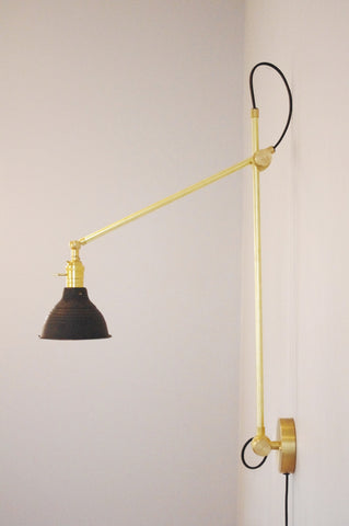 XL Industrial Wall Lamp With Shop Shade