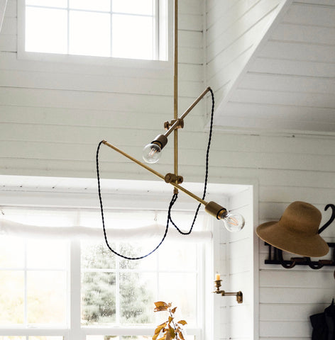 Industrial Double Arm Chandelier