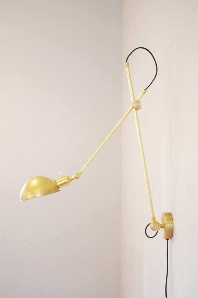 XL Industrial Wall Lamp With Parabolic Shade