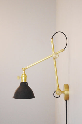 Industrial Wall Lamp With Shop Shade