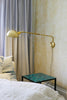 180 Degree Extending Brass Swivel Lamp