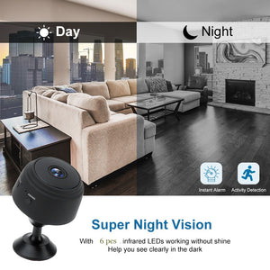 Mini Hidden Camera WiFi Small Wireless Full HD 1080P Video Camera Security Nanny Surveillance Cam