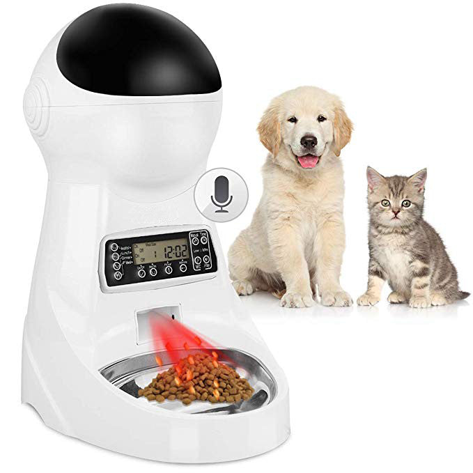 Automatic Pet Feeder Dog Cat Timed Feeder with Camera Voice Record