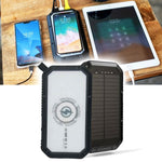 Solar Phone Charger, 20000mah Solar Power Bank Portable Panel Battery Charger for iOS Android