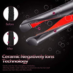 Professional Hair Straightener Curling Iron 2 in 1 Ceramic Twisted Flat Iron for All Hair Types