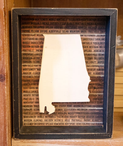 State of Alabama Shadow Box