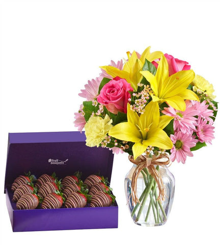 Flowers & Berries For Mom. - OOS