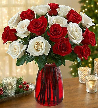 Holiday Cheer Rose Bouquet, 18-36 Stems