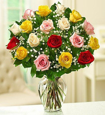 Assorted Long Stem Roses, 12-18 Stems