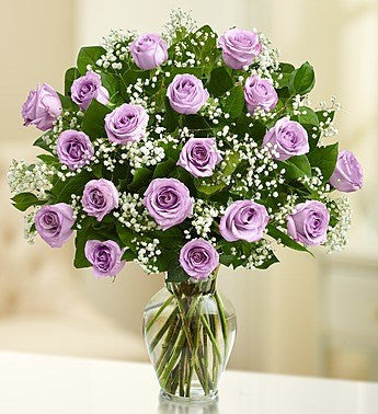 Purple Long Stem Roses, 12-18 Stems - OOS