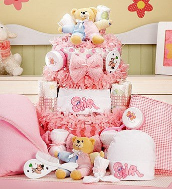 Large Baby Girl Essentials Cake