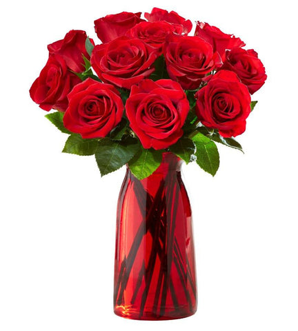Red Roses, 12 Stems.
