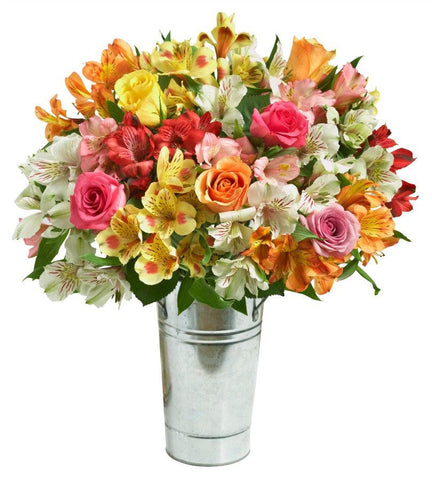 Colorful Roses & Peruvian Lilies.