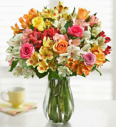 Colorful Roses & Peruvian Lilies