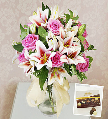 Lilies, Roses & Chocolates